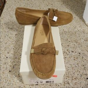 Tan Coach Flats/Loafers